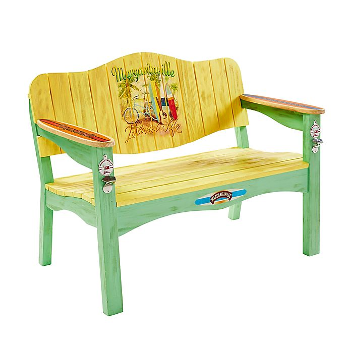 Awe Inspiring Margaritaville Island Life Bench In Yellow Machost Co Dining Chair Design Ideas Machostcouk