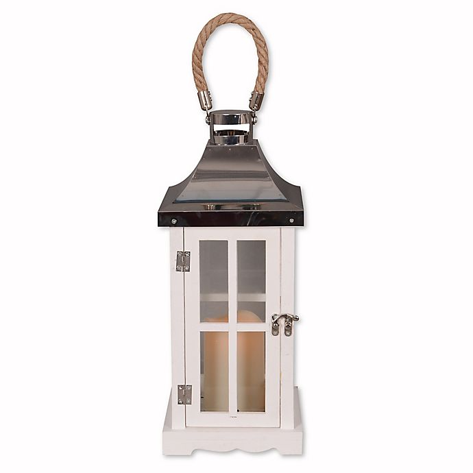Alternate image 1 for Hanging Solar Lantern in White