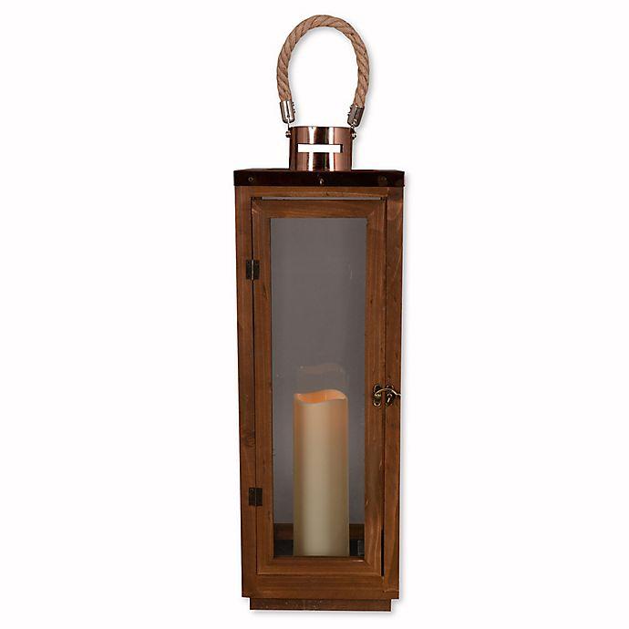 Alternate image 1 for Hanging Solar Lantern in Bronze
