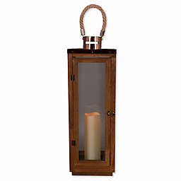 Hanging Solar Lantern in Bronze