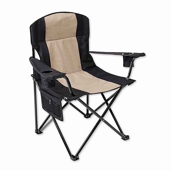 Oversized Folding Quad Chair In Black Bed Bath Amp Beyond
