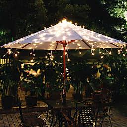 Solar Umbrella String Lights in White