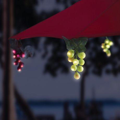 Solar 64 Bulb Led Grapevine Garland Umbrella String Lights