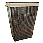 Barrington Outdoor Wicker Hamper in Brown