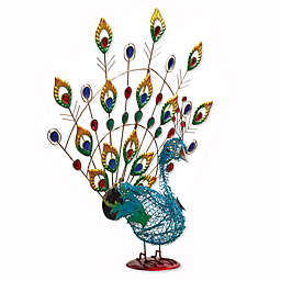 Solar Lighted Peacock Stake