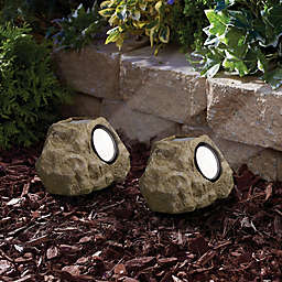 Solar Powered Rocks (Set of 2)