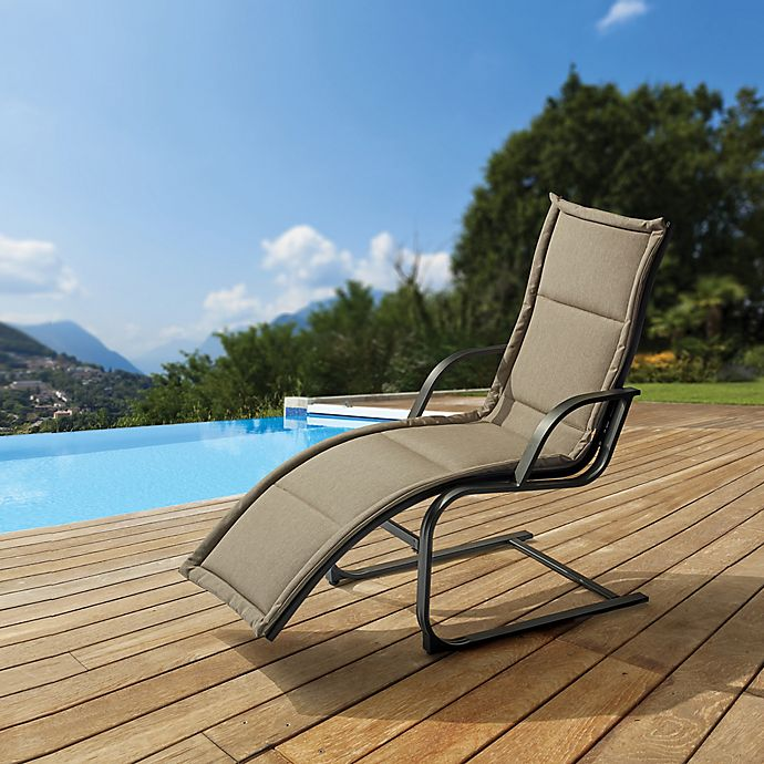 Alternate image 1 for Destination Summer Padded Spring Lounger in Taupe