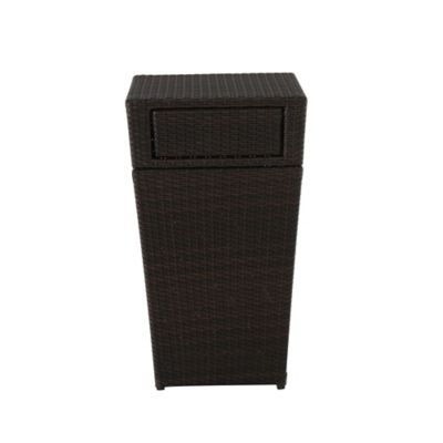 13 Gallon Wicker Trash Can In Brown Bed Bath Beyond