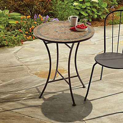 Outdoor Mosaic Stone Bistro Table