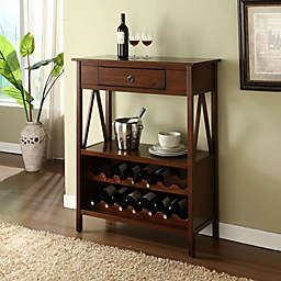 Dylan Wine Cabinet in Antique Tobacco