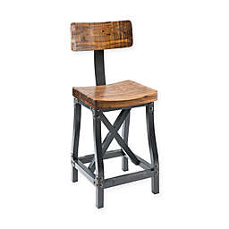 INK+IVY Lancaster Bar Stool in Amber/Graphite
