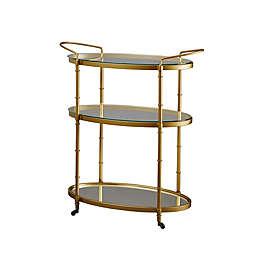 Madison Park Lauren Bar Cart in Antique Gold