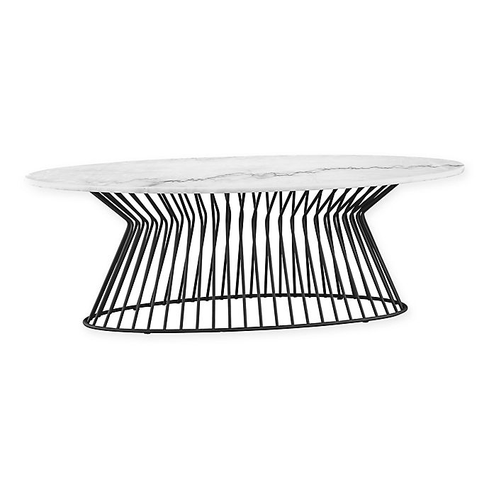 Alternate image 1 for Madison Park Marbury Coffee Table in White/Black