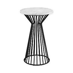 Madison Park Marbury Pedestal in White/Black