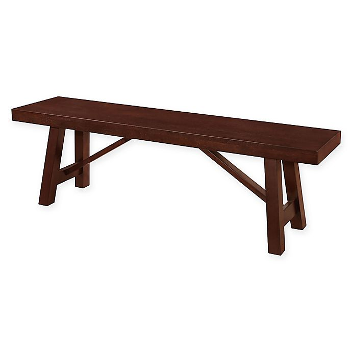 Walker Edison 60 Inch Dining Bench In Espresso Bed Bath Beyond