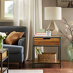 Madison Park Hudson End Table in Natural/Graphite