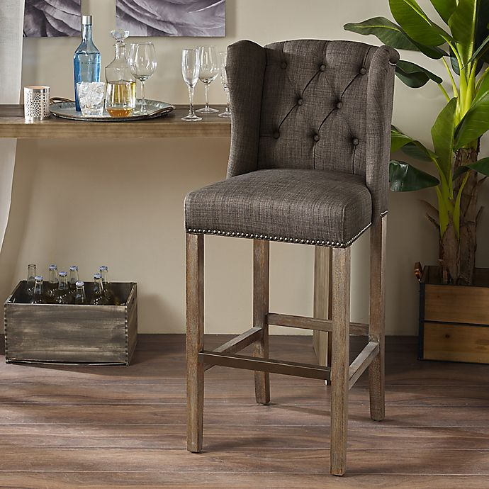 Alternate image 1 for Madison Park Jodi Tufted Wing Counter and Bar Stool