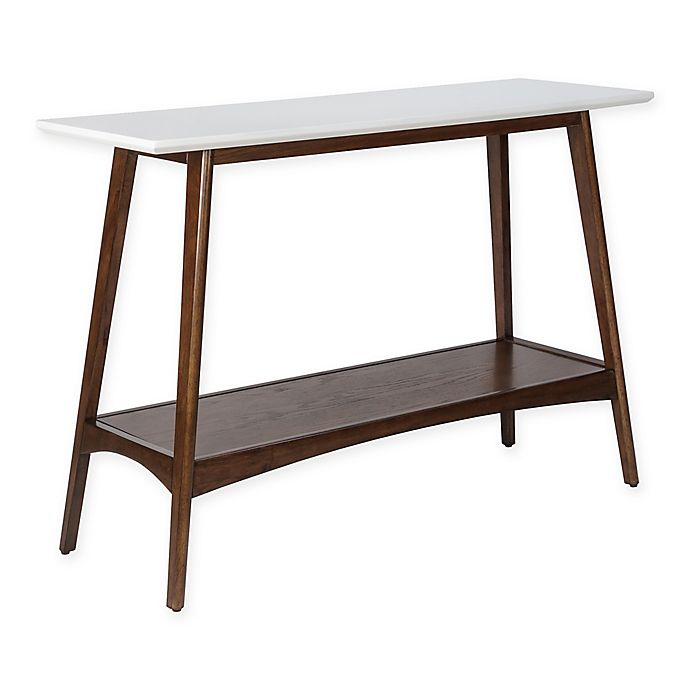 Miraculous Madison Park Parker Console Table In Pecan White Bed Bath Ncnpc Chair Design For Home Ncnpcorg