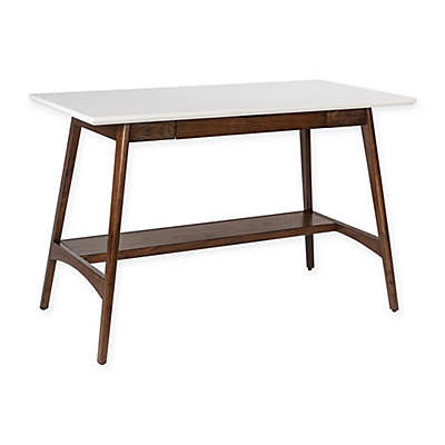 Madison Park Parker Desk in Pecan/White