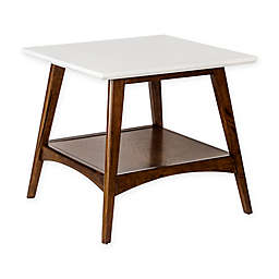 Madison Park Parker End Table in Pecan/White