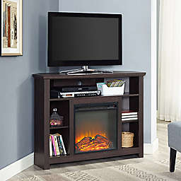 "Forest Gate 44"" Rustic Wood Corner Fireplace TV Stand"