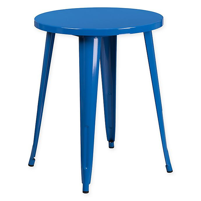 Alternate image 1 for Flash Furniture 24-Inch Round Metal Cafe Table