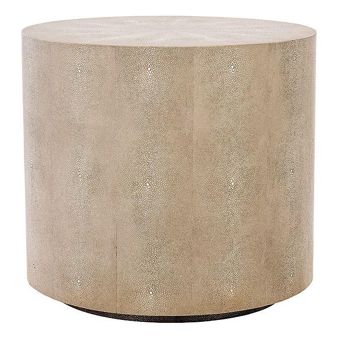 Alternate image 1 for Safavieh Couture Diesel Shagreen Drum Table in Beige