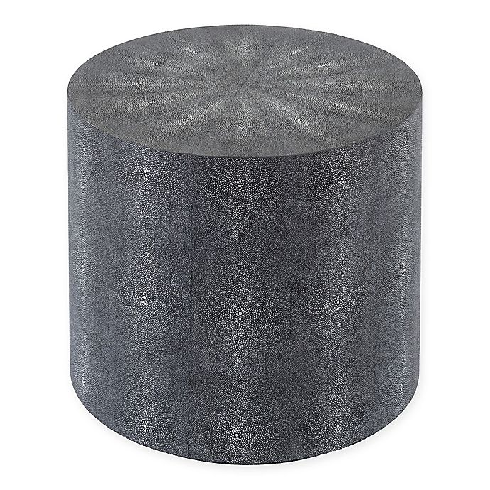 Alternate image 1 for Safavieh Couture Diesel Shagreen Drum Table in Black