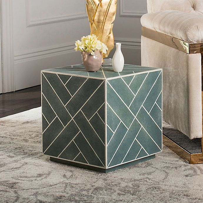 Safavieh Couture Emil Shagreen Cube End Table Bed Bath Beyond