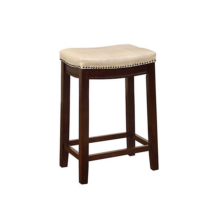 Alternate image 1 for Claridge Counter Stool in Dark Brown/Jute