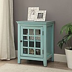 Linon Home Decor Largo Accent Cabinet in Turquoise