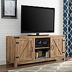 Forest Gate 58  Wheatland Farmhouse Wood Barndoor TV Stand in Barnwood