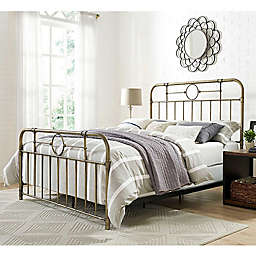 Forest Gate Metal Pipe Queen Bed in Bronze