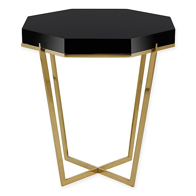Alternate image 1 for Safavieh Couture Danna Metal End Table in Black