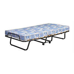 Roma Twin Folding Bed in Blue/White