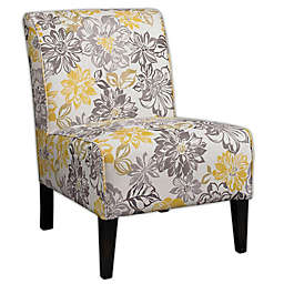 Lily Bridey Chair in Grey/Yellow