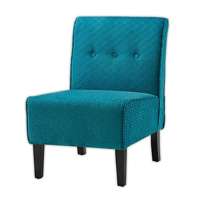 Alexandria Accent Chair Teal: Coco Polyester Accent Chair In Teal/Black