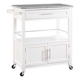 Cameron Kitchen Cart in White