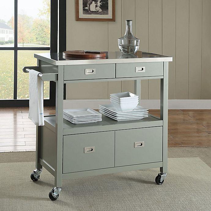Alternate image 1 for Sydney Kitchen Cart in Grey