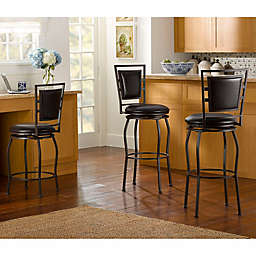 Townsend Adjustable-Height Swivel Stools in Brown (Set of 3)