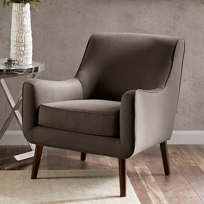 Surprising Madison Park Oxford Accent Chair In Grey Bed Bath Beyond Inzonedesignstudio Interior Chair Design Inzonedesignstudiocom
