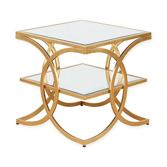 Alternate image 1 for Madison Park Evan End Table in Gold