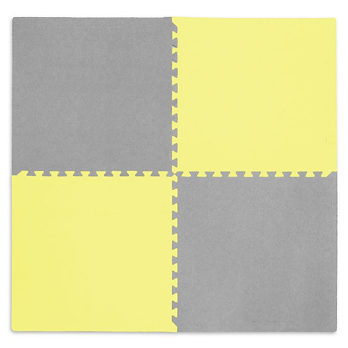 Alternate image 1 for Tadpoles™ by Sleeping Partners Play Mat in Yellow/Grey
