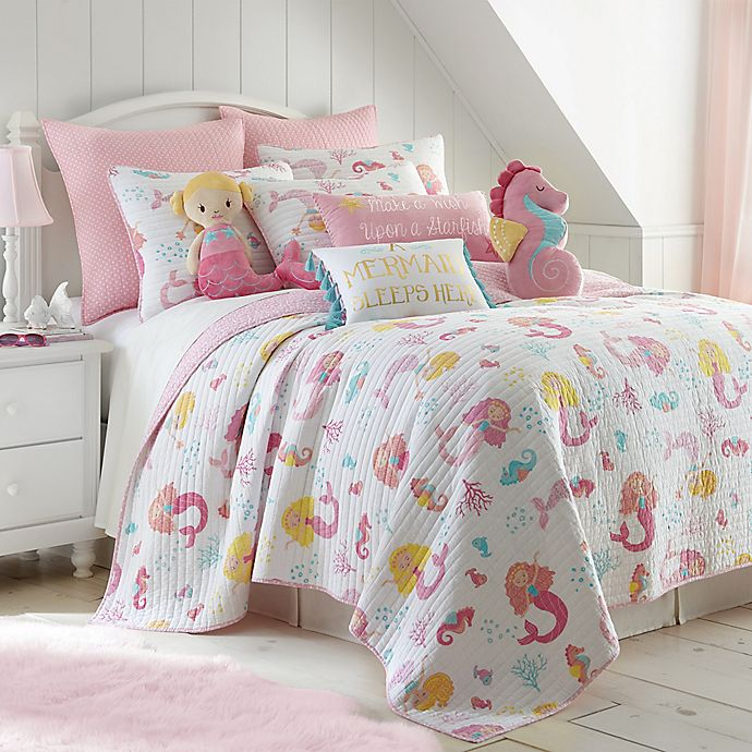 Alternate image 1 for Levtex Home Joelle 3-Piece Reversible Full/Queen Quilt Set in Pink
