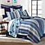 Part of the Levtex Home Torri Reversible Quilt Set in Blue