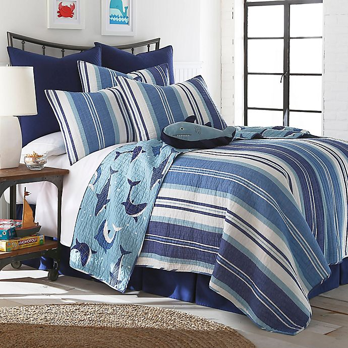 Alternate image 1 for Levtex Home Torri Reversible Quilt Set in Blue