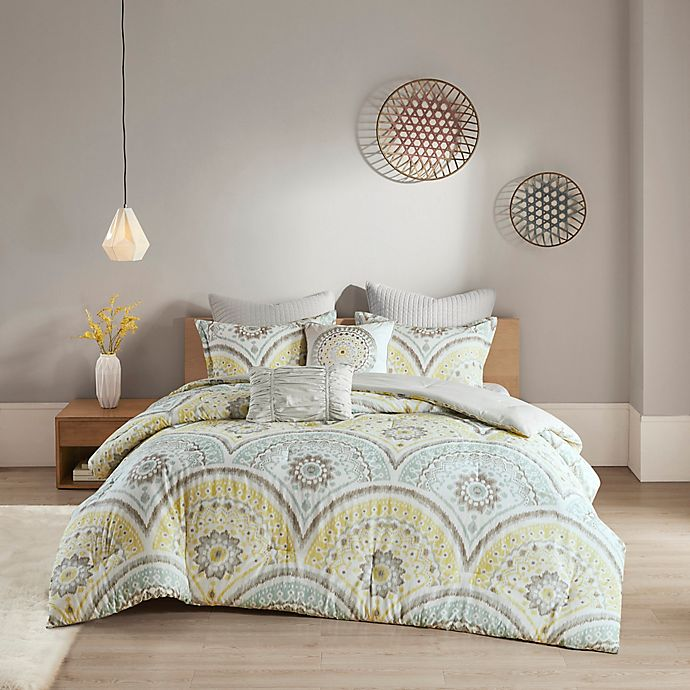 Alternate image 1 for Urban Habitat Matti 7-Piece King/California King Comforter Set in Yellow
