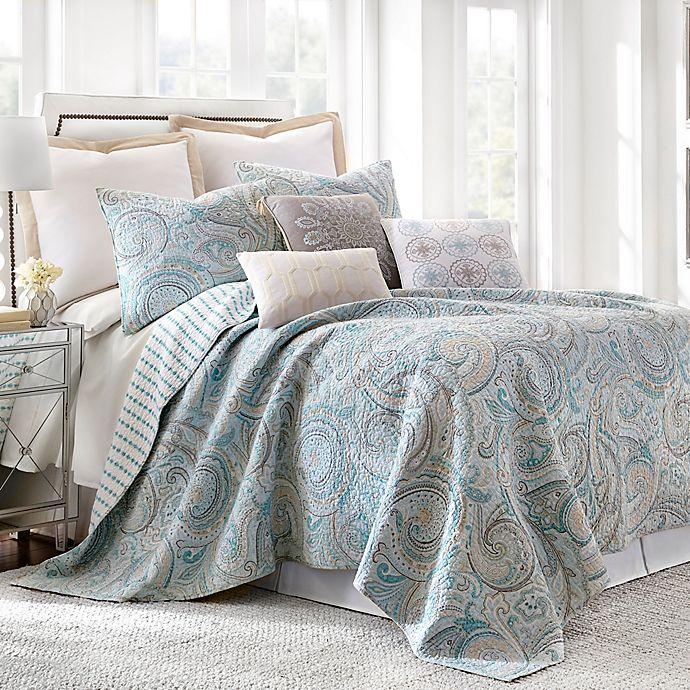 Alternate image 1 for Levtex Home Amelie Reversible King Quilt Set in Blue