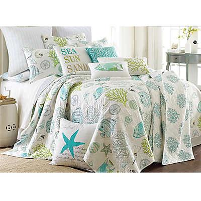 Levtex Home Arielle Reversible Quilt Set in Aqua