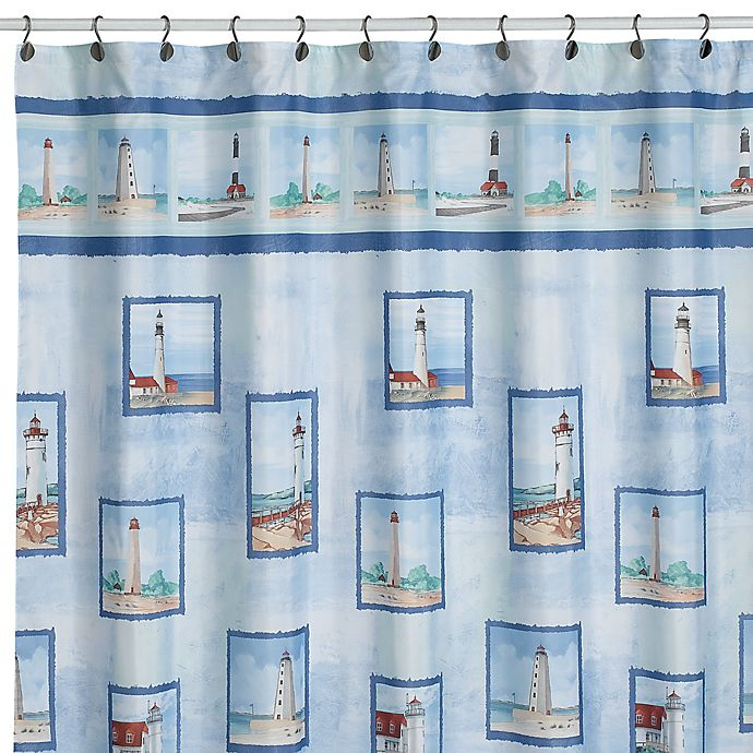 Coastal Breeze Fabric Shower Curtain By Saturday Knight Limited